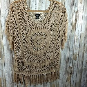 Rue 21crocheted top/cover up